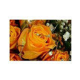 Orange Roses Rectangle Magnet