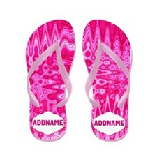 Pink Abstract Flip Flops