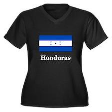 Honduras Women's Plus Size V-Neck Dark T-Shirt
