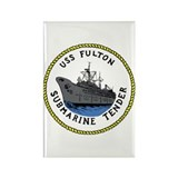 USS Fulton (AS 11) Rectangle Magnet