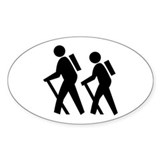 Hiking Oval Decal