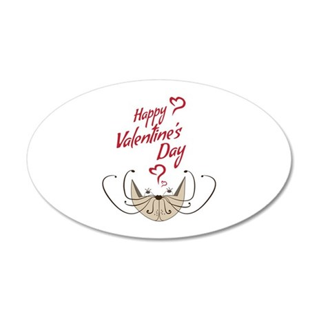 Valentines Day Love Cat Wall Decal