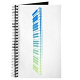 Mint Piano Keys Journal