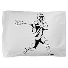 Lacrosse Player Action Pillow Sham