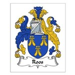 Roos Family Crest Small Poster