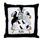 Rolfe Family Crest Throw Pillow