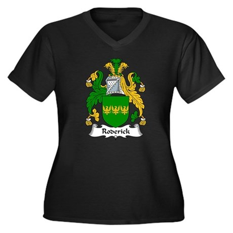 Roderick Family Crest Women's Plus Size V-Neck Dar
