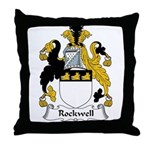 Rockwell Family Crest Throw Pillow