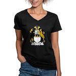 Rockwell Family Crest Women's V-Neck Dark T-Shirt