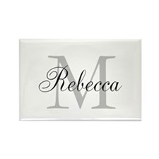 Monogram Initial And Name Personalize It! Magnets