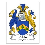 Robin Family Crest Small Poster