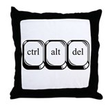 Ctrl Alt Del Throw Pillow