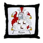 Roan Family Crest Throw Pillow
