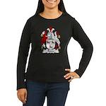 Roan Family Crest Women's Long Sleeve Dark T-Shirt