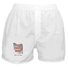 CUSTOM 8x10 Photo and Text Boxer Shorts