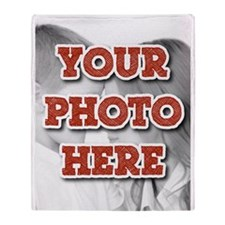 CUSTOM Your Photo Here Throw Blanket