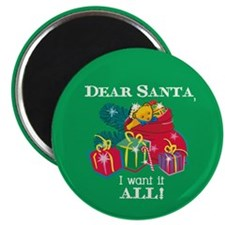 "Want It All Santa 2.25"" Magnet (10 pack)"