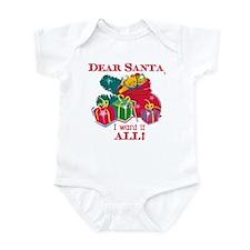 Want It All Santa Infant Bodysuit