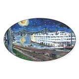 Starry Night Riverboat Oval Decal