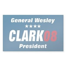 WESLEY CLARK PRESIDENT 08 Rectangle Decal