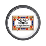 The Best Teachers Are Reading Teachers Wall Clock