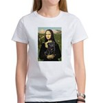 Mona's Black Pug Women's T-Shirt