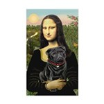 Mona's Black Pug Sticker (Rectangle)