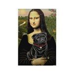 Mona's Black Pug Rectangle Magnet (10 pack)