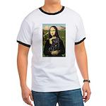Mona's Black Pug Ringer T