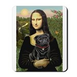 Mona's Black Pug Mousepad