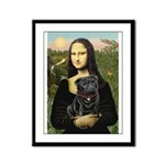 Mona's Black Pug Framed Panel Print