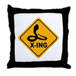 Cobra X-ing Throw Pillow