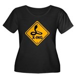 Cobra X-ing Women's Plus Size Scoop Neck Dark T-Sh