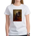 Lincoln-Black Pug Women's T-Shirt