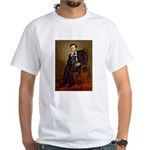 Lincoln-Black Pug White T-Shirt