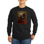 Lincoln-Black Pug Long Sleeve Dark T-Shirt
