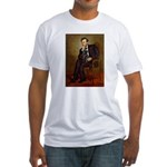 Lincoln-Black Pug Fitted T-Shirt