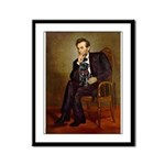 Lincoln-Black Pug Framed Panel Print