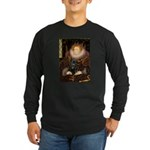 The Queen's Black Pug Long Sleeve Dark T-Shirt