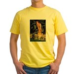 Fairies & Black Pug Yellow T-Shirt