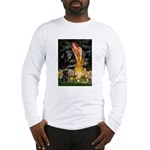 Fairies & Black Pug Long Sleeve T-Shirt