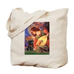 Mandolin Angel / Black Pug Tote Bag