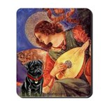Mandolin Angel / Black Pug Mousepad