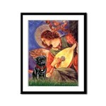 Mandolin Angel / Black Pug Framed Panel Print