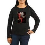 Lady / Black Pug Women's Long Sleeve Dark T-Shirt