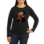 Lady / Black Pug Women's Long Sleeve Dark T-Shirt