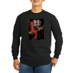 Lady / Black Pug Long Sleeve Dark T-Shirt
