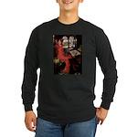 Lady / Black Pug Long Sleeve Dark T-Shirt