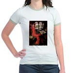 Lady / Black Pug Jr. Ringer T-Shirt