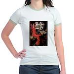 Lady / Black Pug Jr. Ringer T-Shirt